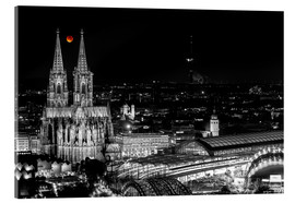 Quadro em acrílico  Blutmond over the Cologne Cathedral - rclassen