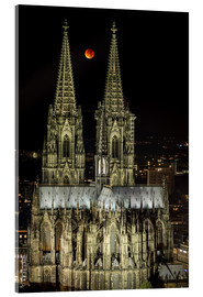 Quadro em acrílico  Blood moon shines over Cologne Cathedral - rclassen
