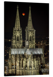 Quadro em alumínio  Blood moon shines over Cologne Cathedral - rclassen