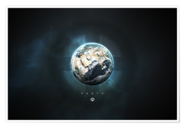Póster Premium  Solar System Earth - Tobias Roetsch
