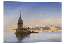 Quadro em acrílico  The Maiden's Tower (Maiden Tower) with Istanbul in the background - Carl Neumann