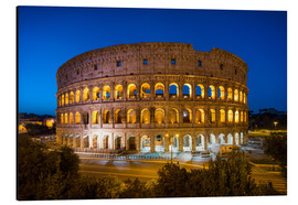 Quadro em alumínio  Colosseum in Rome at night - Jan Christopher Becke