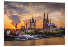 Quadro em PVC  Cologne Cathedral and Great St Martin - Jens Korte