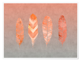 Póster Premium  Feathers - Andrea Haase