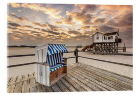 Quadro em acrílico  In the morning the North Sea beach of Sankt Peter Ording - Dennis Stracke
