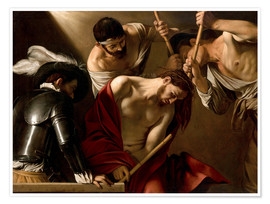 Póster Premium  The Crowning with Thorns - Michelangelo Merisi (Caravaggio)