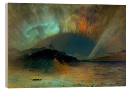 Quadro de madeira  Northern lights - Frederic Edwin Church
