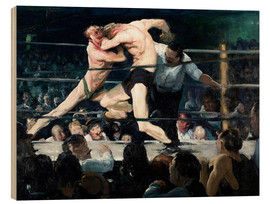 Quadro de madeira  Stag at Sharkey's - George Wesley Bellows
