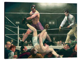 Quadro em alumínio  Dempsey and Firpo - George Wesley Bellows