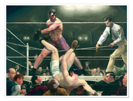 Póster Premium  Dempsey and Firpo - George Wesley Bellows