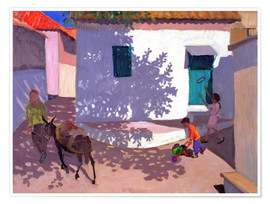 Póster Premium  Green Door and Shadows, Lesbos, 1996 - Andrew Macara
