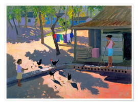 Póster Premium  Hens and Chickens, Cuba, 1997 - Andrew Macara