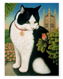 Póster Premium  Humphrey, the cat - Frances Broomfield