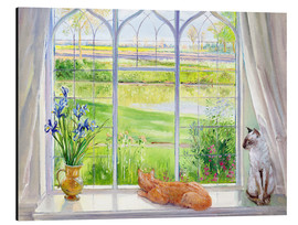 Quadro em alumínio  Cats at the window - Timothy Easton