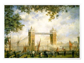 Póster Premium  Tower Bridge vista da Torre de Londres - Richard Willis