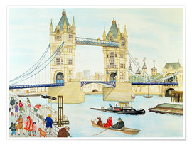 Póster Premium  Tower Bridge, London - Gillian Lawson