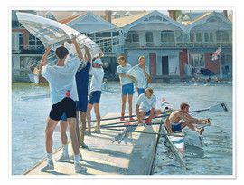 Póster Premium  Preparation for rowing - Timothy Easton