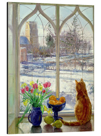 Quadro em alumínio  Snow Shadows and Cat - Timothy Easton