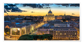 Póster Premium  Roma St. Peters dome - FineArt Panorama