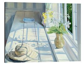 Quadro em alumínio  Still life in front of the window - Timothy Easton