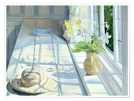 Póster Premium  Still life in front of the window - Timothy Easton