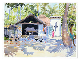Póster Premium  The Backwaters, Kerala - Lucy Willis