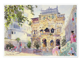 Póster Premium  House on the Hill, Bombay - Lucy Willis