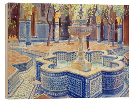 Quadro de madeira  The blue fountain - Lucy Willis
