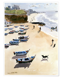Póster Premium  Boats on the Beach - Lucy Willis
