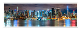 Póster Premium  New York City Skyline panoramic view - Sascha Kilmer