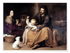 Póster Premium The Holy Family with the Little Bird
