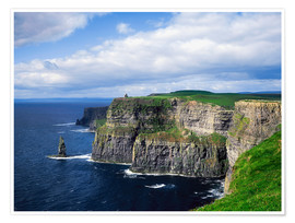 Póster Premium  Cliffs of Moher - The Irish Image Collection