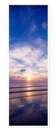 Póster Premium  Sunsets on the beach - The Irish Image Collection