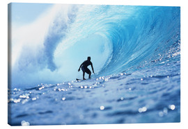 Quadro em tela  Surfer in the pipeline Barrel - Vince Cavataio