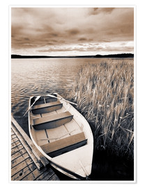 Póster Premium  Boat on Lake Burntstick - Darwin Wiggett