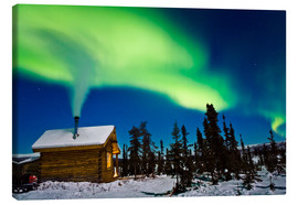 Quadro em tela  Northern Lights over a hut - Kevin Smith
