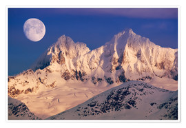 Póster Premium Moon over the Tongass National Forest