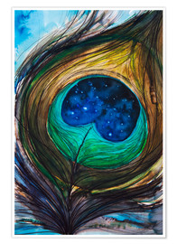 Póster Premium  Peacock feather - Tara Thelen