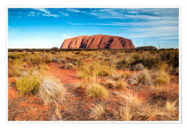 Póster Premium  Ayers Rock in the evening - Matteo Colombo