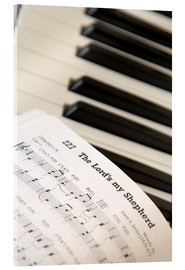 Quadro em acrílico  Sheet music on piano keyboard - John Short