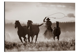 Quadro em alumínio  Cowboy of the horses catches - Richard Wear