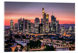 Quadro em acrílico  Skyline Frankfurt am Main Sundown - Frankfurt am Main Sehenswert