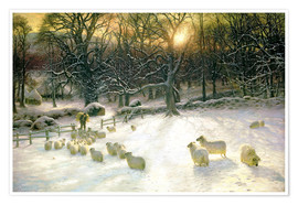 Póster Premium  The Shortening Winter's Day is Near a Close - Joseph Farquharson