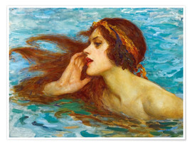 Póster Premium  A little sea maiden - William Henry Margetson