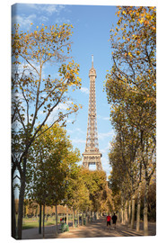 Quadro em tela  Eiffel tower in autumn, Paris, France - Matteo Colombo