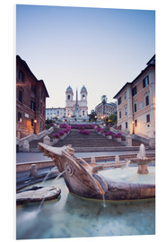 Quadro em PVC  Famous Spanish Steps and Bernini fountain, Rome, Italy - Matteo Colombo