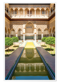 Póster Premium  Court of the virgins in the royal Alcazar - Matteo Colombo