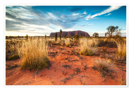 Póster Premium  Red Desert at Ayers Rock - Matteo Colombo