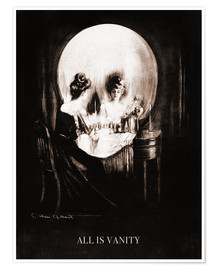 Póster Premium  All is vanity (sépia) - Charles Allan Gilbert