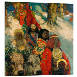 Quadro em PVC  Druids bringing in the Mistletoe - Edward Atkinson Hornel
